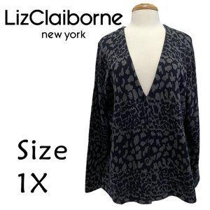 Liz Claiborne Snake Print Cardigan Size 1X